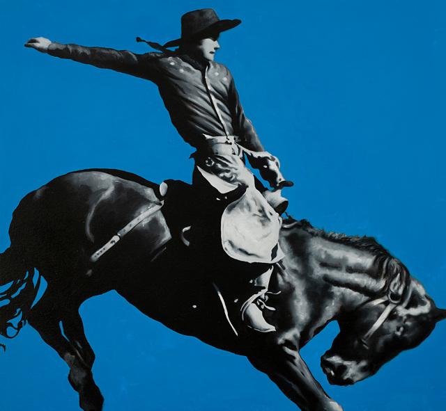 Geoffrey Gersten, 'Black & Blue ', 2021, Painting, Original oil on canvas, Off The Wall Gallery