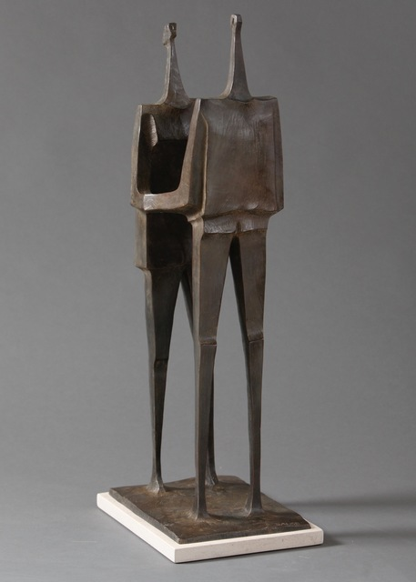 """, '""""Together"""" Stylized Angular Sculpture of Couple Embracing,' , Eisenhauer Gallery"""