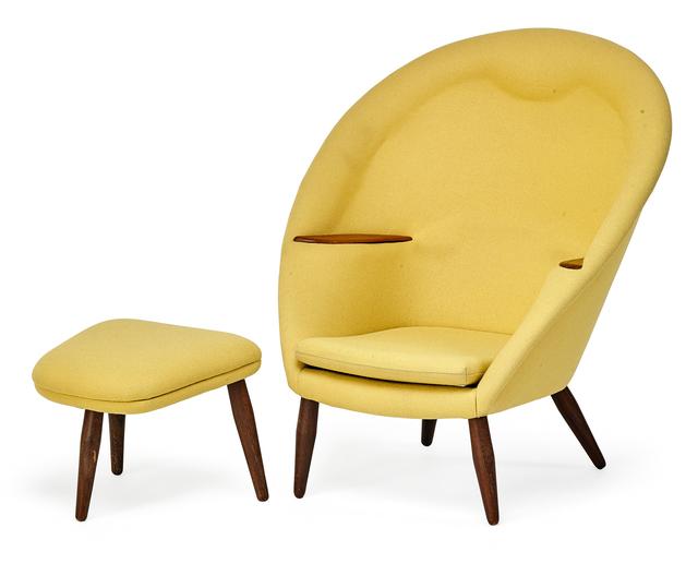 Nanna Ditzel, 'Oda lounge chair and ottoman, Denmark', 1950s, Rago