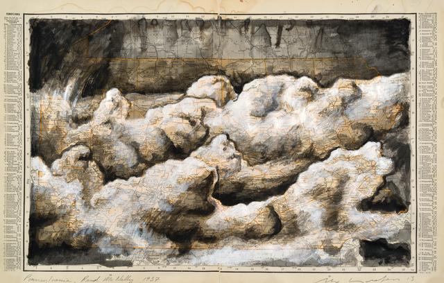 , 'Pennsylvania, Rand McNally 1937,' 2013, Art Bastion Gallery