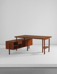 Writing table for junior officers, model no. PJ-BU-14-A, from the Secrétariat and administrative buildings, Chandigarh