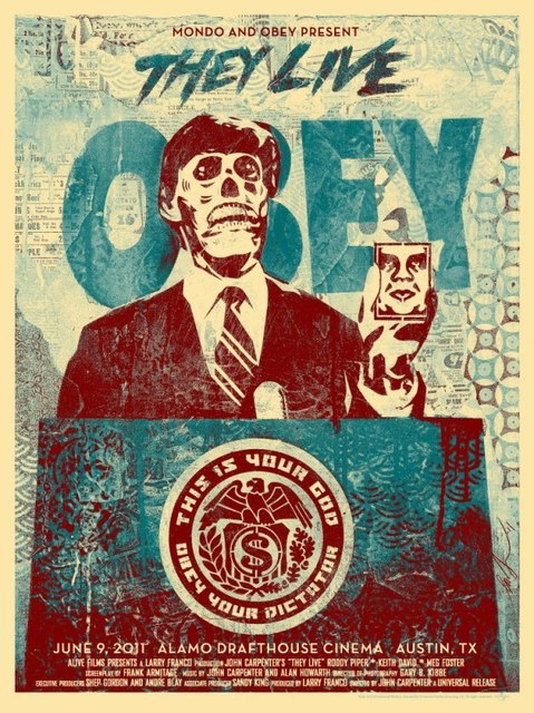 Shepard Fairey, 'They Live 2 (Blue)', 2011, Print, Screen print, Dope! Gallery
