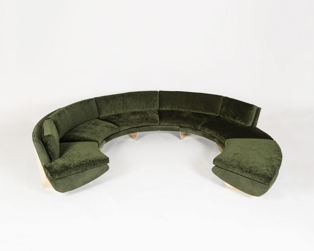"Georgis & Mirgorodsky, '""Whalebone"" Curved Sofa With Ottoman', 2014, Design/Decorative Art, Choice of wood or bronze supports, COM upholstery, Maison Gerard"
