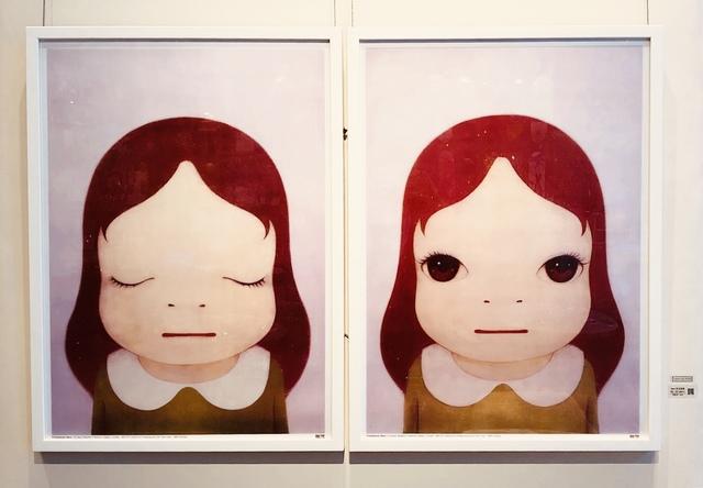 Yoshitomo Nara, 'Cosmic Girl (Eyes Shut/Eyes Open)', 2008, Lex Art Gallery