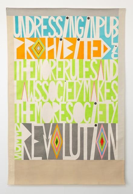 , 'Undressing in public prohibited,' 2019, Darren Knight Gallery
