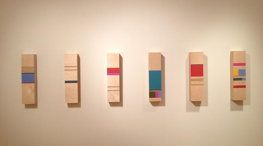 """Installation shot from past show at GSAA: """"Straight Lines in 5 Directions"""" (2013)"""