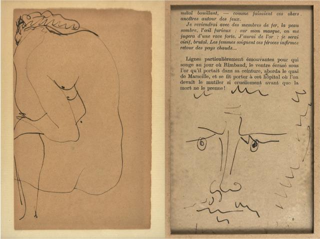Pablo Picasso, 'Nu assis de dos au verso et au recto : Tête d'homme barbu', Unknown, HELENE BAILLY GALLERY