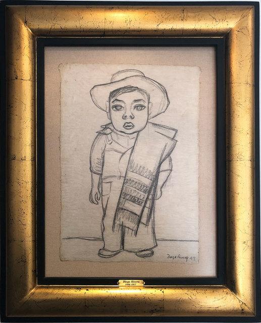 , 'Niño con Zarape,' 1949, GALERÍAS A. CRISTOBAL