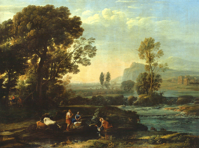 , 'Landscape showing the flight to Egypt,' 1647, Belvedere Museum