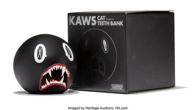 KAWS, 'Cat Teeth Bank (Black)', 2007, Heritage Auctions