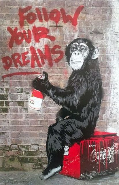 Mr. Brainwash, 'MR BRAINWASH, FOLLOW YOUR DREAMS', 2012, Print, High quality gloss paper with a semi gloss finish in saturated inks., Arts Limited