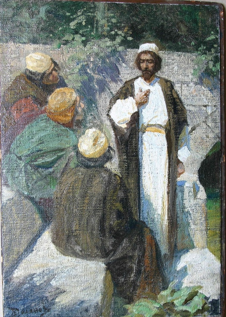 , 'Who do people worship Me for? Sketch,' 1904, Vassily Polenov Fine Arts Museum and National Park