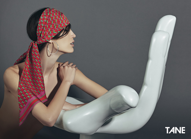 , 'Foulard Cúbica Rojo,' 2015, Tane