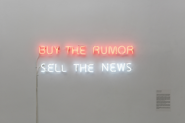 , 'Buy the rumor, sell the news,' 2014, Travesia Cuatro