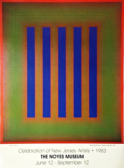 Richard Anuszkiewicz, 'Celebration of New Jersey Artists - Noyes Museum Poster', 1983, Alpha 137 Gallery