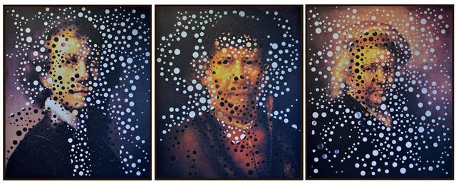 , 'Autorretrato com Rembrandt Jovem, Meia-Idade e Velho [Self-portrait with young, middle-aged and old Rembrandt],' 2001-2014, Casa Triângulo