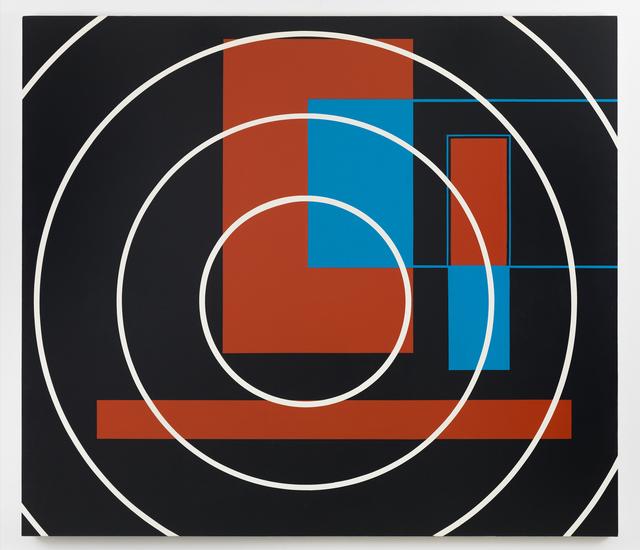Nassos Daphnis, 'REVERENCE 10-87', 1987, Painting, Enamel on canvas, Richard Taittinger Gallery