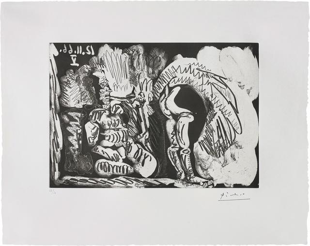 Pablo Picasso, 'Fumeur de pipe et femme retroussant son jupon (Pipe-Smoker and Woman Trussing her Petticoats)', 1966, Phillips
