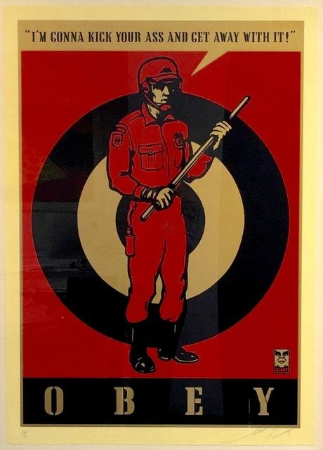 Shepard Fairey (OBEY), 'Riot Cop Large Format', 2009, Gregg Shienbaum Fine Art