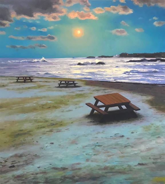 Scott Prior, 'Snow on the Beach', 2018, William Baczek Fine Arts