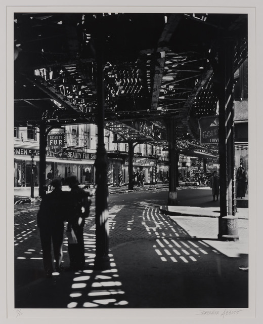 """Berenice Abbott, 'The """"El,"""" 2nd & 3rd Avenue lines. Bowery and Division', 1936, Doyle"""