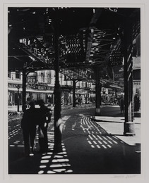 """The """"El,"""" 2nd & 3rd Avenue lines. Bowery and Division"""
