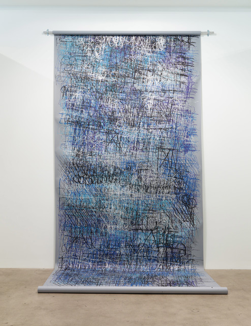 , 'Untitled (Large grey and blue scroll),' 2017, Diane Rosenstein