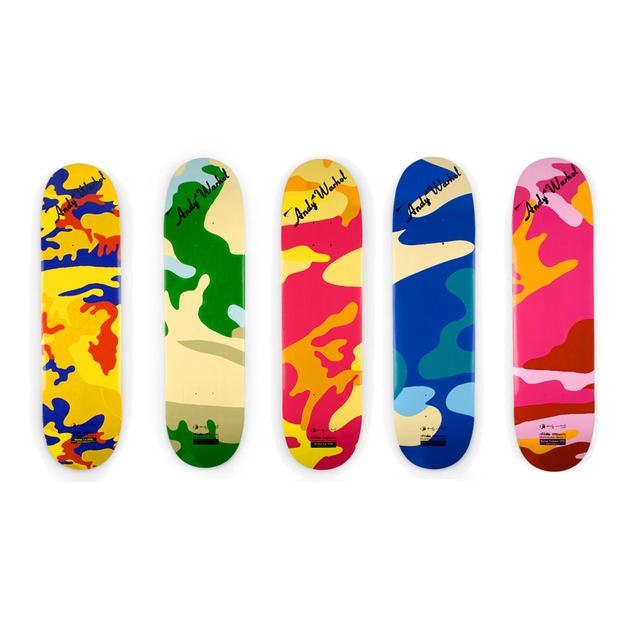 Andy Warhol, 'Camouflage (set of 5 skateboard decks)', 2007, EHC Fine Art