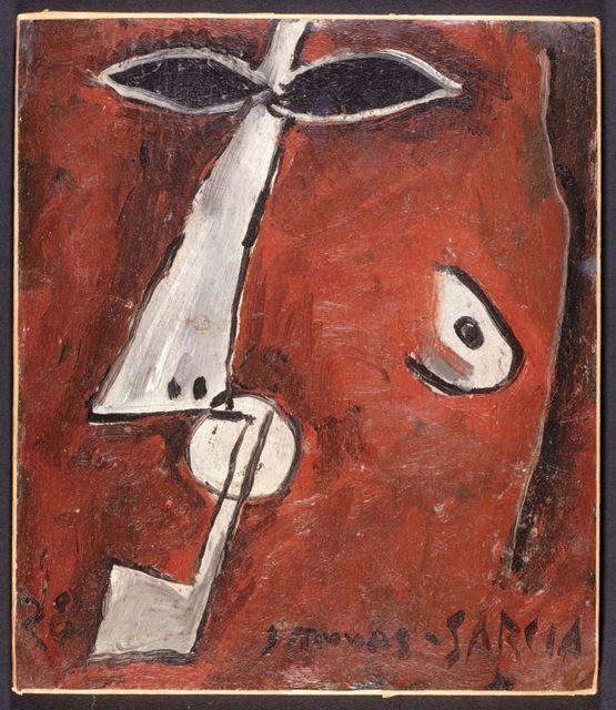 , 'Mascara con pipa, Paris,' 1928, Galeria Sur