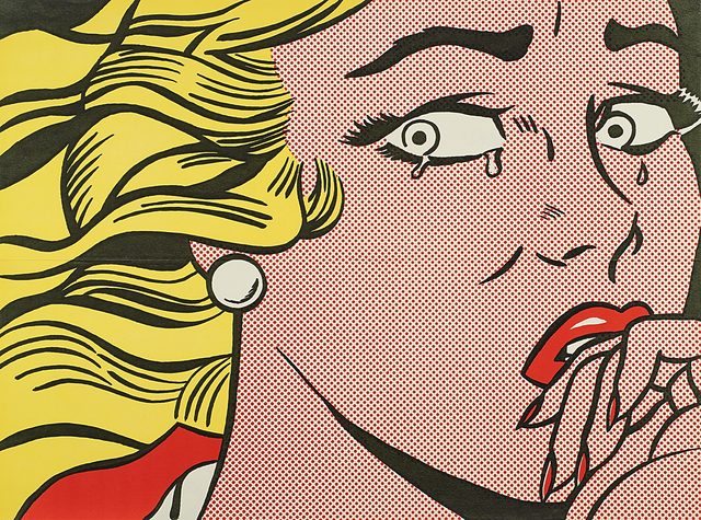 Roy Lichtenstein, 'Crying Girl', 1963, Print, Offset lithograph in colors (mailer), Rago/Wright