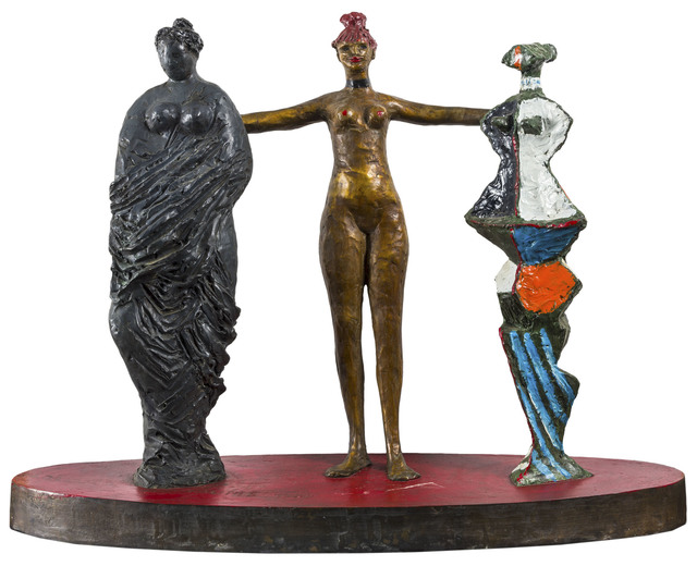 Salvatore Fiume, 'Le tre grazie', 1988, Sculpture, Painted bronze sculpture, ArtRite
