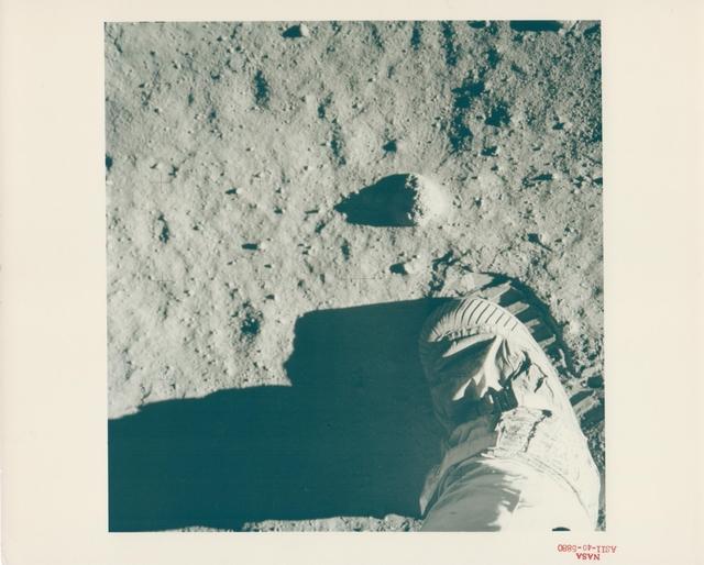 , 'Aldrin's boot on the lunar soil, Apollo 11, July 1969,' , Attollo Art