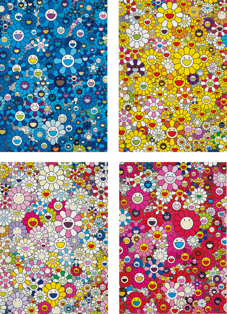 Takashi Murakami, 'An Homage to IKB, 1957; An homage to Monogold 1960 A; An Homage to Yves Klein, Multicolor A; and An homage to Monopink 1960 A', 2011-12, Phillips