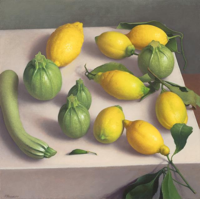 , 'Zucchini and Lemons,' 2019, Clark Gallery