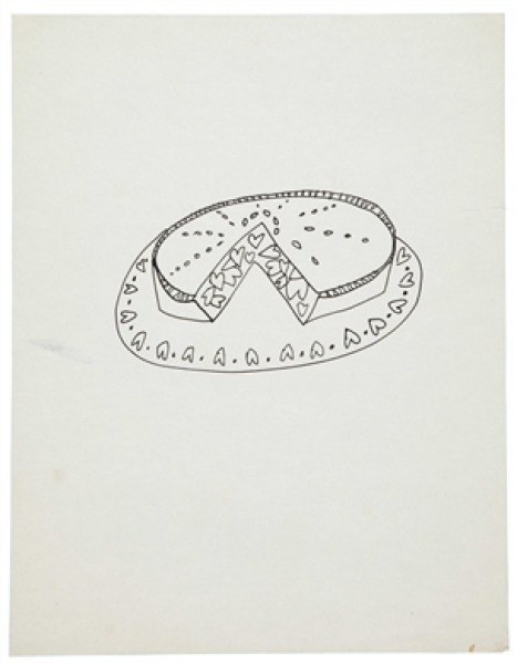 Andy Warhol, 'Pie With Hearts', 1951, Dean Borghi Fine Art