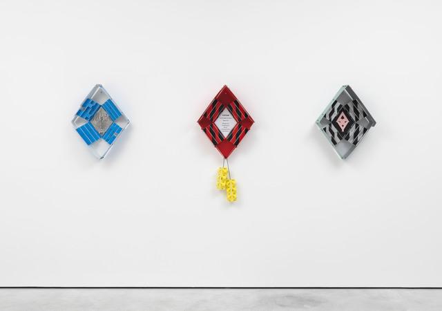 Suse Weber, 'Blaue Raute, Kuckucksuhr, Kreuzweg Objekt,' 2011, Galerie Barbara Weiss