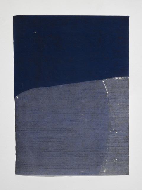 , 'blue course,' 2017, Gallery Joe