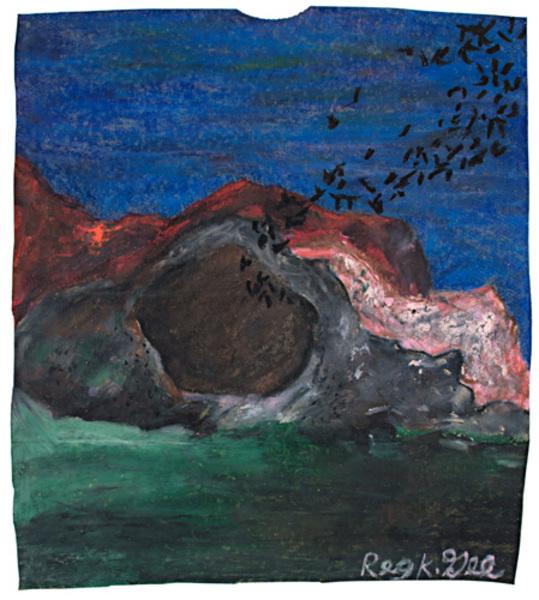 Reginald K Gee, 'Bats Exiting Cave', 1999, David Barnett Gallery