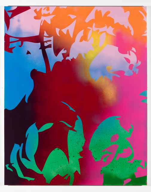 , 'Ghosts (red, pink, green, blue),' 2016, Erin Cluley Gallery