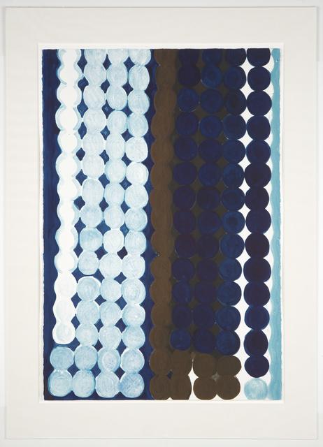 Judy Ledgerwood, 'Malibu (#7 Blue + Brown)', 1997, Print, Monotype, Manneken Press