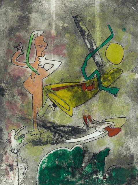 Roberto Matta, 'Centre Noeuds, Plate III', 1974, Print, Etching & Aquatint on Arches paper, Art Commerce