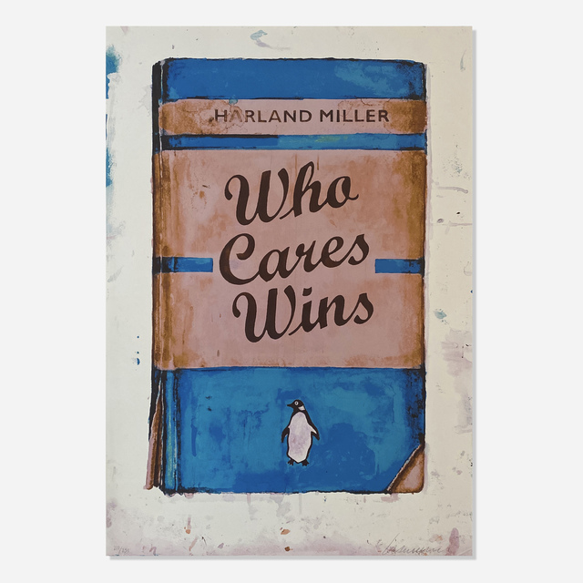 Harland Miller, 'Who Cares Wins', 2020, Print, Silkscreen in colors on Somerset paper, Artsy x Rago/Wright