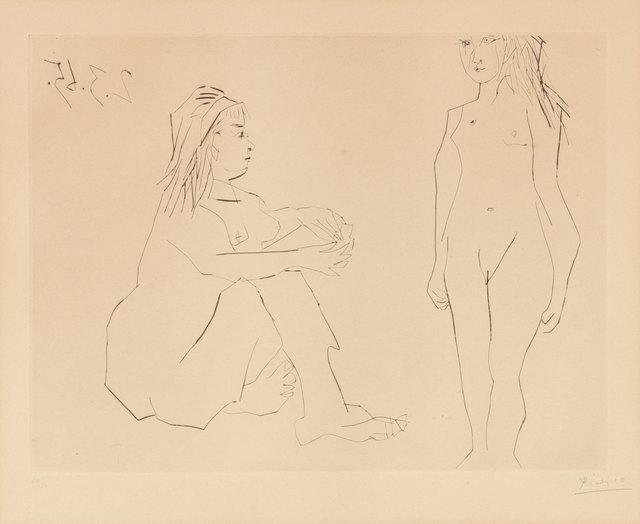 Pablo Picasso, 'Deux Femmes (B. 1203)', 1965, Print, Drypoint on cream wove paper, Doyle