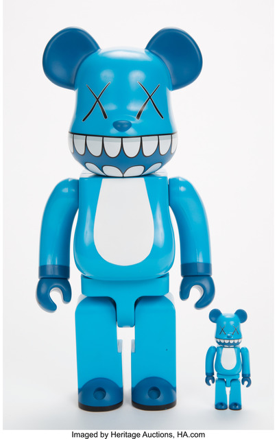 KAWS, 'Chompers BE@RBRICK 400% and 100% (two works)', 2003, Heritage Auctions