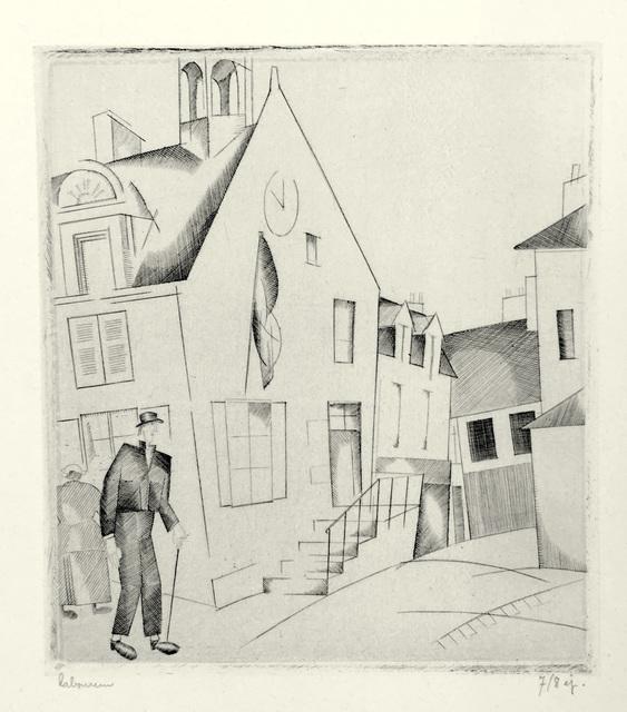 Jean-Emile Laboureur, 'Le Petit Hotel de Ville', 1922, Harris Schrank Fine Prints