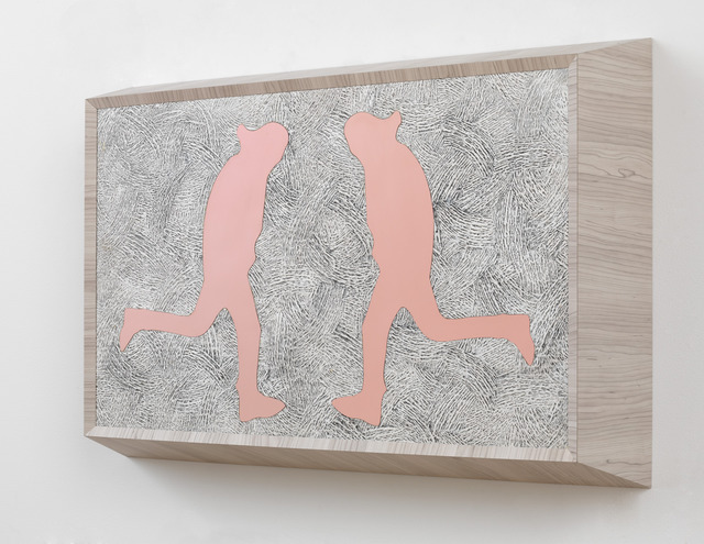 , 'Running Man (double pink),' 2013, Gagosian