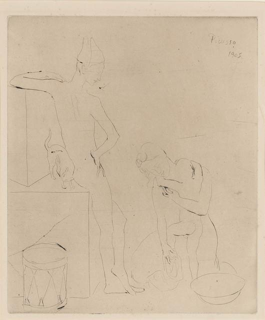 Pablo Picasso, 'Le Bain (Bloch 12)', 1905, Print, Drypoint, on Van Gelder paper, Doyle