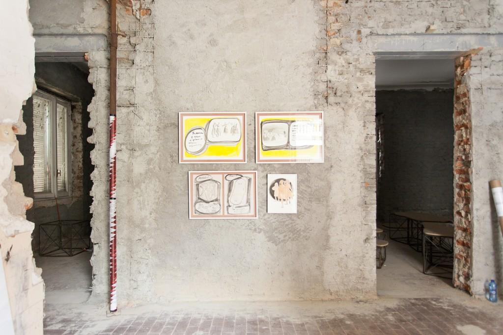 Adelita Husni-Bey, The Classroom, solo exhibition, 2016, ex-Montessori school, Milan installation view, ph. Giovanna Silva