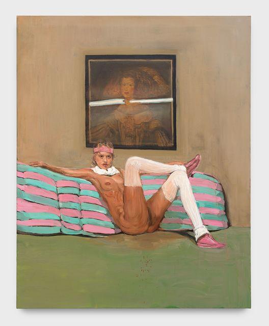 Matthieu Ronsse, 'Disco Bitch vs Dan Flavin vs Velazquez', 2005, Painting, Oil on canvas, Almine Rech