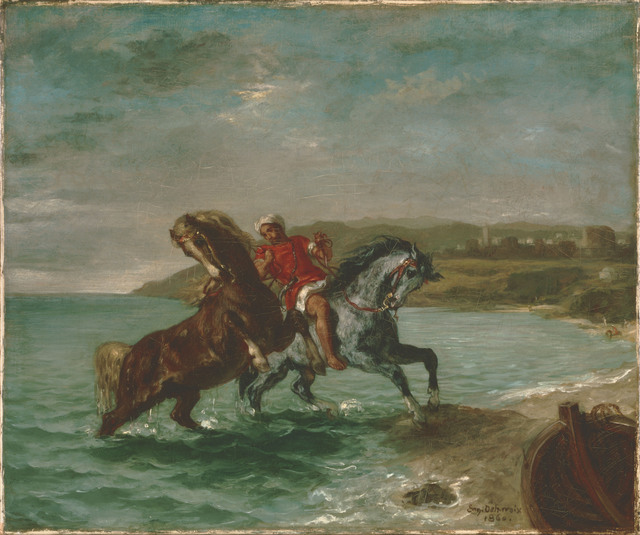 Eugène Delacroix, 'Horses Coming Out of the Sea', 1860, Phillips Collection